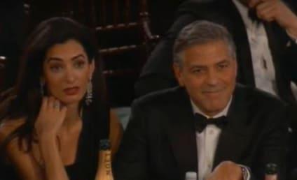 Amal Alamuddin: Bored at the Golden Globes?