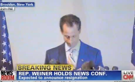 Anthony Weiner Resigns from Congress