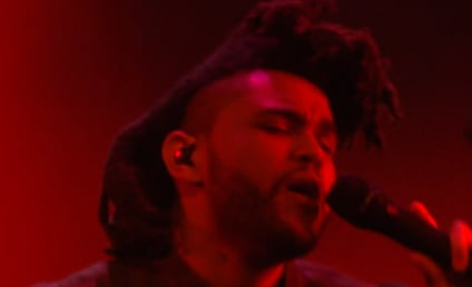 """The Weeknd Performs """"Cant Feel My Face"""" at VMAs, Kanye Loses His Mind"""