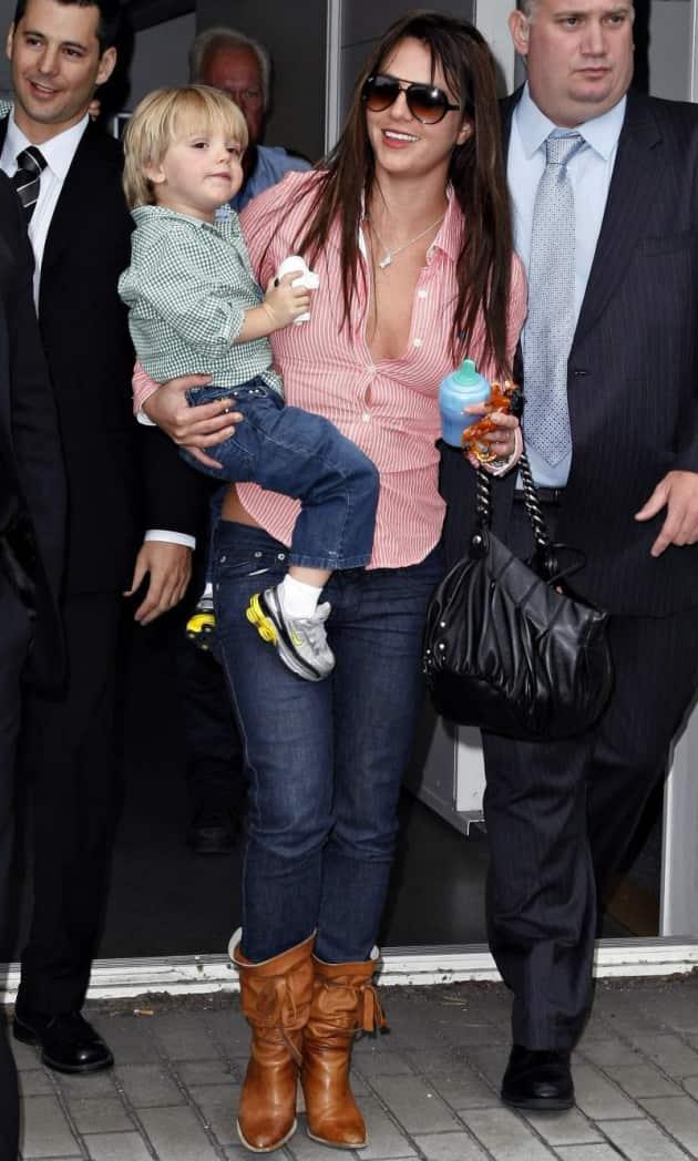 Jayden James Federline with Mom