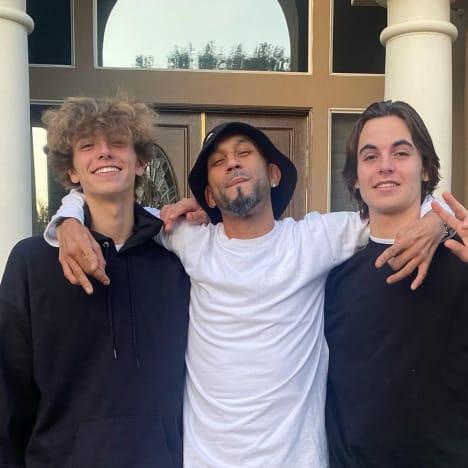 Sean Preston Federline, Eddie Morales, and Jayden James Federline in 2021