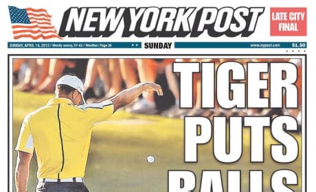 Tiger Woods NY Post Cover