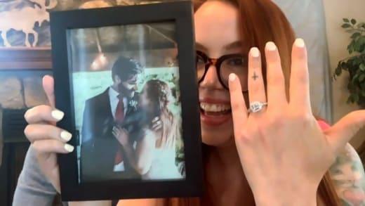 Jess Caroline shows ring, marriage photo