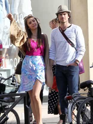 Ian Somerhalder and Nina Dobrev in Paris