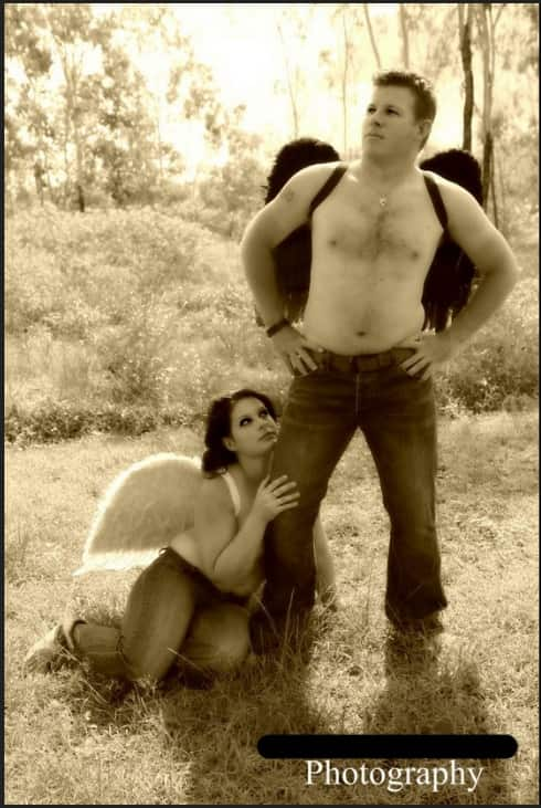 Angels in sepia.