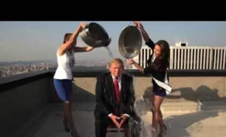 Donald Trump Accepts Ice Bucket Challenge