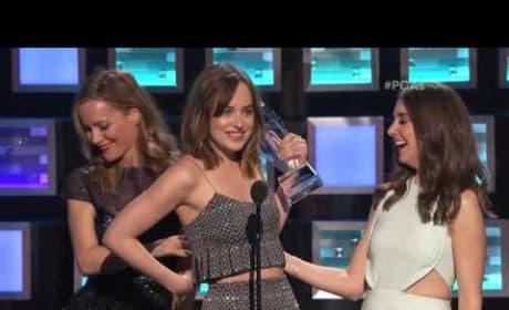 Dakota Johnson Nearly Flashes People Choice Awards Audience