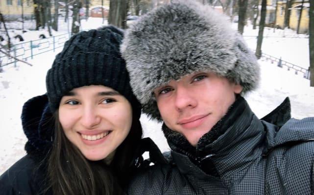 Steven Frend y Olga Koshimbetova