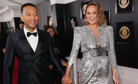 Chrissy Teigen and John Legend, 2018 Grammy Awards