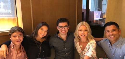 Kelly Ripa, Mark Consuelos, and Their Children