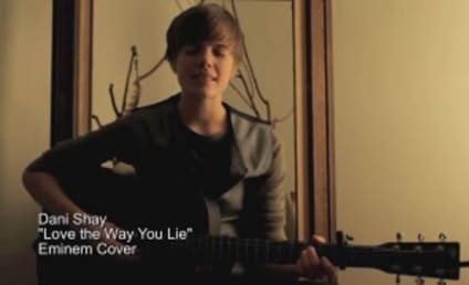 "Dani Shay, Justin Bieber Doppelganger, Covers ""Love the Way You Lie"""