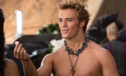 Sam Claflin as Finnick: First, Shirtless Look!