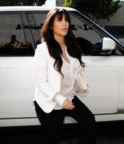 Kim Kardashian Out of Her Car