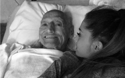 Ariana Grande With Grandfather