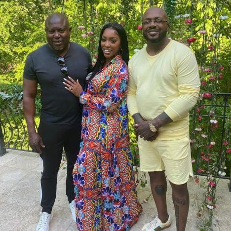 Simon Guobadia, Porsha Williams and Dennis McKinley