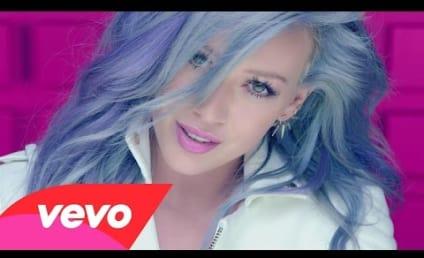 "Hilary Duff Rocks Blue Hair in ""Sparks"" Music Video"