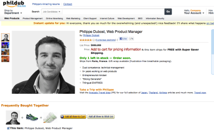 Best Resume Ever: Guy Presents Self as Amazon Product Page