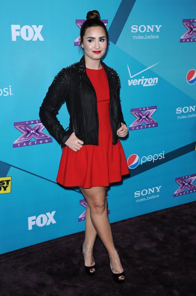 Demi Lovato at X Factor Party