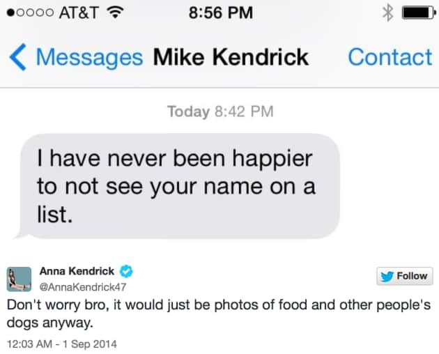 Anna Kendrick Tweet