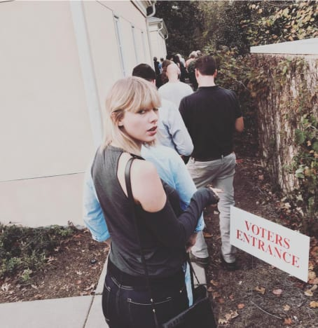 Taylor Swift Votes!