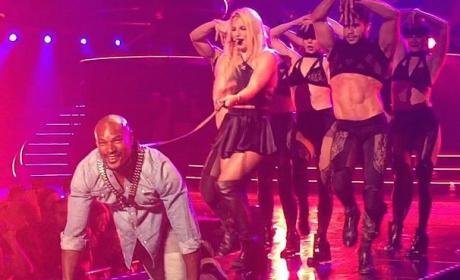 Britney Spears Treats Tyson Beckford Like a Dog