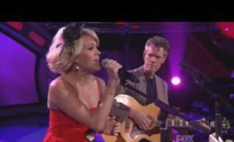 Carrie Underwood and Randy Travis on American Idol