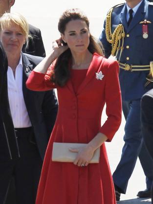Kate Middleton, Red Dress