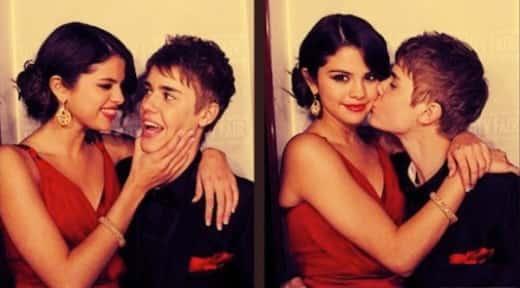 Justin Bieber With Selena Gomez Photo