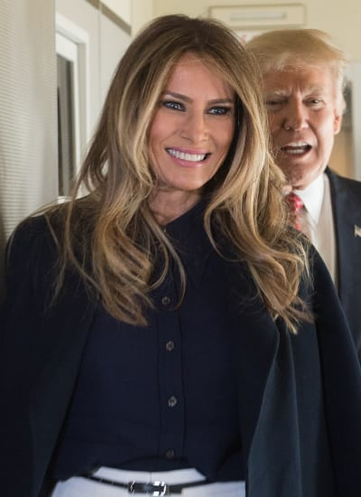 Melania Trump Aboard Air Force One