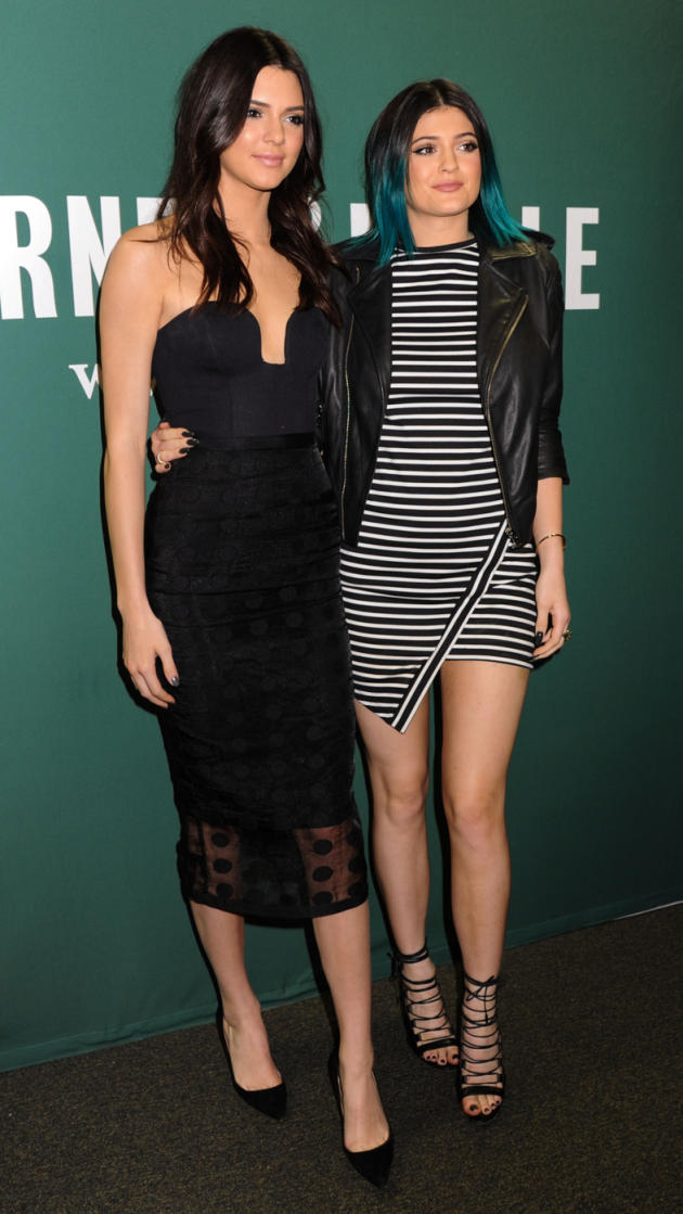 Kylie and Kendall Jenner at a Book Signing