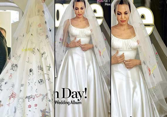 Angelina jolie and brad pitt to donate wedding photo for Donate wedding dress cancer
