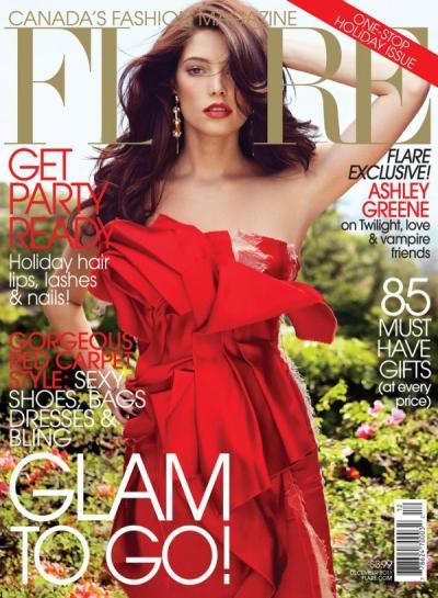 Ashley Greene Flare Magazine Cover
