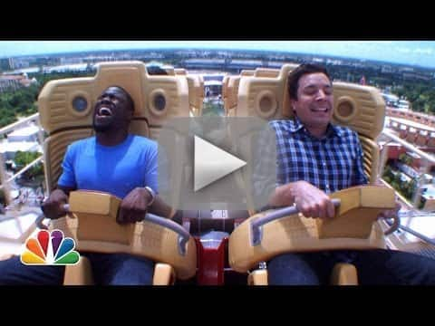 Jimmy Fallon and Kevin Hart Ride Roller Coaster