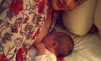 Miranda Kerr Introduces Son, Nursing Position to the World