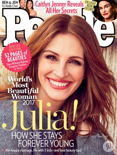 Julia Roberts Makes HISTORY as People's Most Beautiful Woman