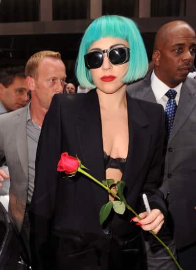 Lady Gaga, Blue Wig