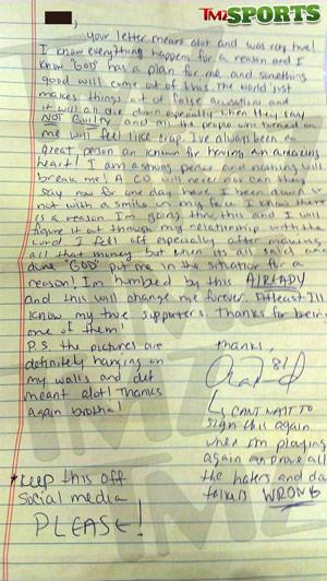 Hernandez Letter