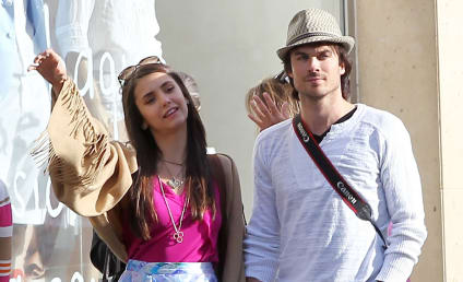 Spotted in Paris: Ian Somerhalder and Nina Dobrev!