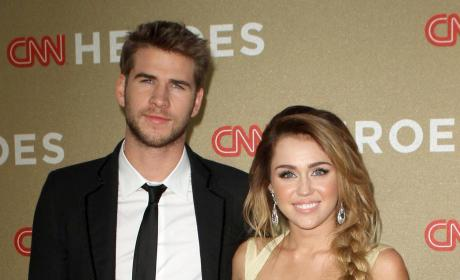 Liam Hemsworth and Miley Cyrus: CNN Heroes: An All-Star Tribute