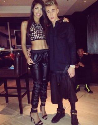 Justin Bieber and Yovanna Ventura