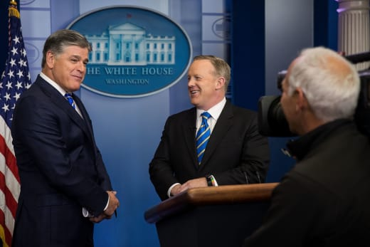 Sean Hannity and Sean Spicer