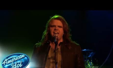 "Caleb Johnson Sings ""Dazed and Confused"""