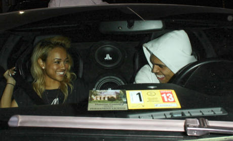 Karrueche Tran and Chris Brown