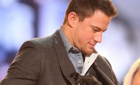 Channing Tatum with a Puppy