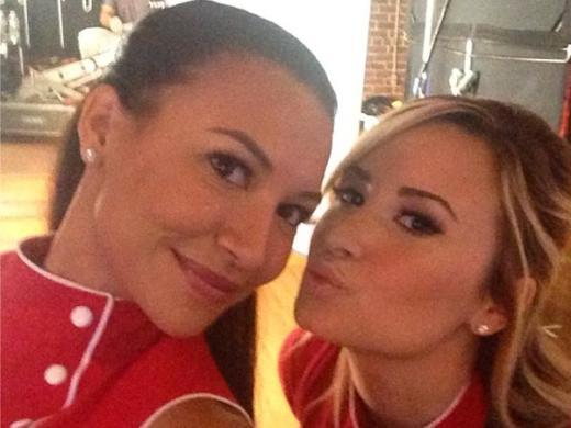 Naya Rivera and Demi Lovato