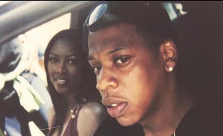 Kenya Moore and Jay-Z