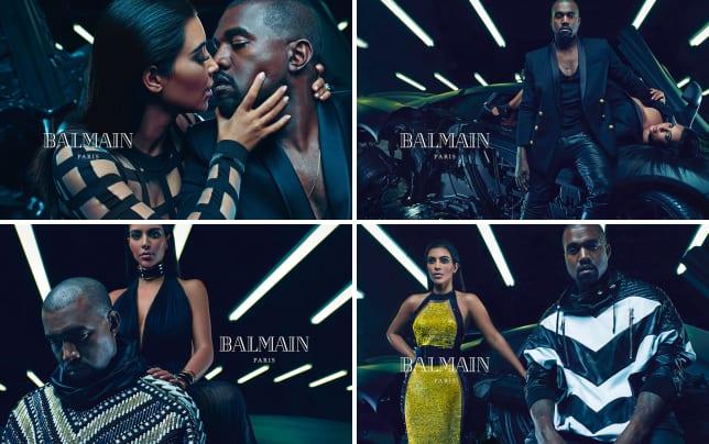 Kim kardashian kanye west balmain ad