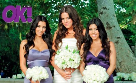 Kourtney, Khloe, Kim Kardashian Wedding Pic