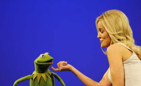 Emily Maynard and Kermit the Frog