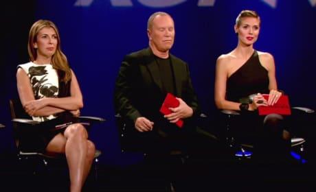 Heidi Klum, Michael Kors and Nina Garcia